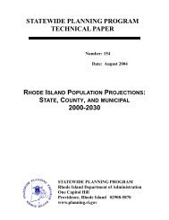 154: Rhode Island Populations - State of Rhode Island: Division of ...