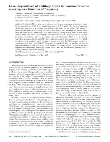 Level dependence of auditory filters in nonsimultaneous masking as a