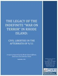 War on Terror - ACLU of Rhode Island