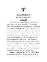 Rhode Island Bar Association Task Force on Pro Bono Report ...