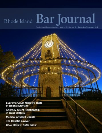 November/December 2012 Bar Journal - Rhode Island Bar ...