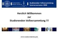 Herzlich Willkommen zur Studierenden Vollversammlung - des FSR ...