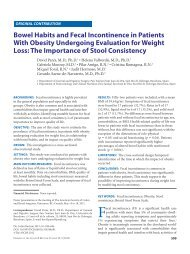 Bowel Habits and Fecal Incontinence in Patients With Obesity ...