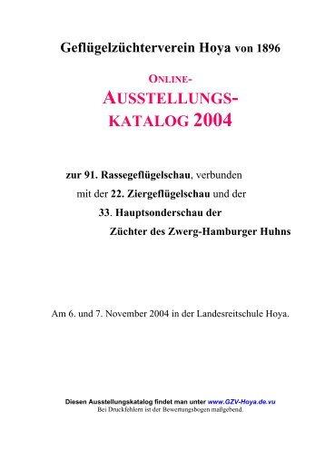 AUSSTELLUNGS- KATALOG 2004 - Beepworld.de