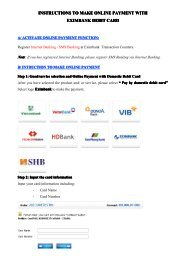 INSTRUCTIONS TO MAKE ONLINE PAYMENT WITH EXIMBANK ...
