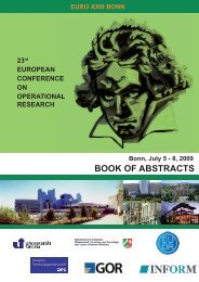 BOOK OF ABSTRACTS - EURO Conference Bonn 2009