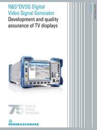 R&S DVSG Digital Video Signal Generator - Rohde & Schwarz