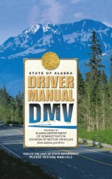 Alaska Driver Manual - Administration - State of Alaska