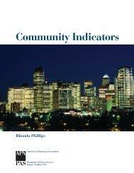 Community Indicators - American Planning Association