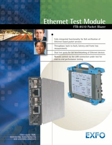Ethernet Test Module FTB-8510 Packet Blazer - Rohde & Schwarz