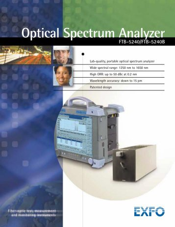 Optical Spectrum Analyzer FTB-5240/FTB-5240B - Rohde & Schwarz