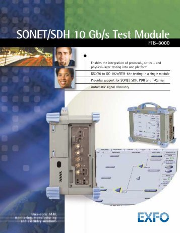 SONET/SDH 10 Gb/s Test Module FTB-8000 - Rohde & Schwarz