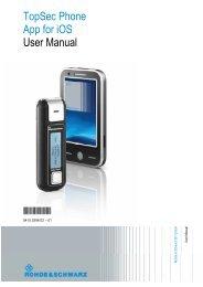TopSec Phone App for iOS User Manual