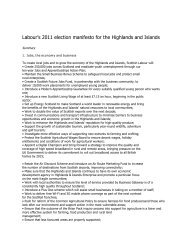 Scottish Labour's Manifesto for the - Highlands and Islands Labour