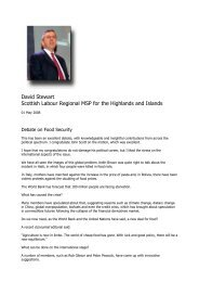 David Stewart Scottish Labour Regional MSP for the Highlands and ...