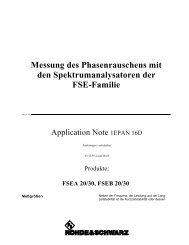 Messung des Phasenrauschens mit den Spektrumanalysatoren der ...