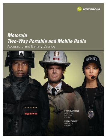 Motorola High Tier Accessory Catalog - Emergency Radio Service Inc.