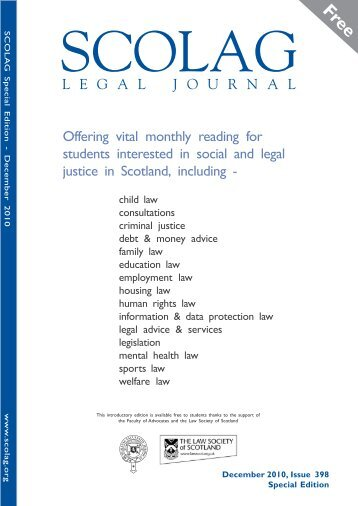 a free download of this edition - Scottish Legal Action Group