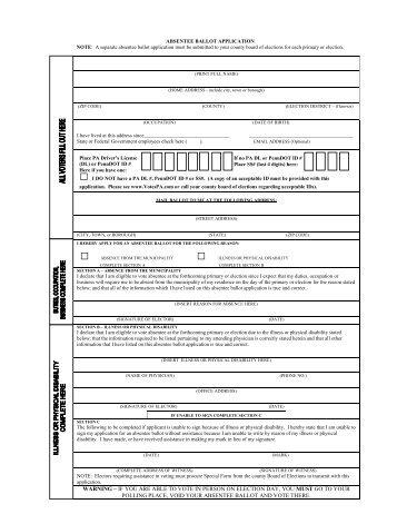 Kansas Absentee Ballot Application - Long Distance Voter