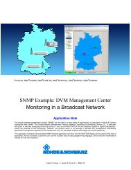 SNMP Example – DVM Management Center - Rohde & Schwarz ...