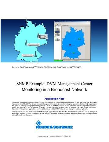 SNMP Example – DVM Management Center - Rohde & Schwarz ...