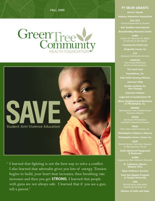 I learned that fighting is not the best - Green Tree Community Health ...