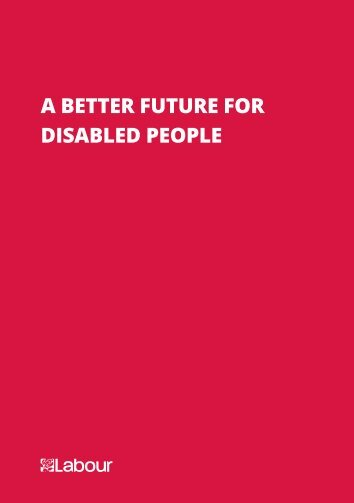 A Better Future for Disabled People