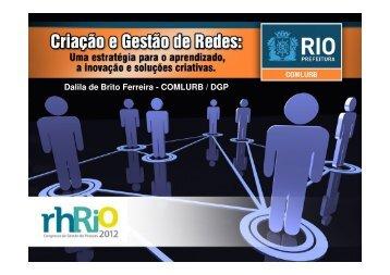 Dalila de Brito Ferreira - COMLURB / DGP - ABRH-RJ