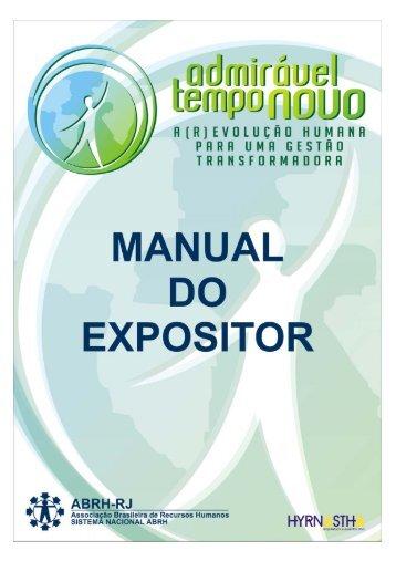 MANUAL DO EXPOSITOR - ABRH-RJ