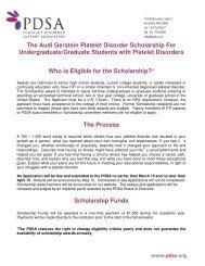 The Audi Gerstein Platelet Disorder Scholarship For Undergraduate ...