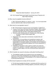 Cal/OSHA's Safe Patient Handling Frequently Asked Questions
