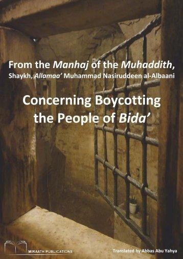 Miraath-Publications-From-the-Manhaj-of-Boycotting-the-people-of-Bida'-2014