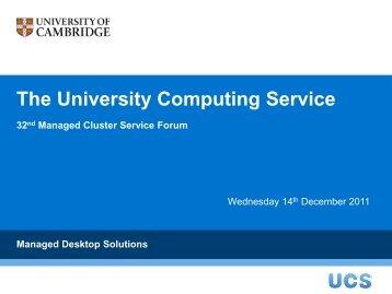 The University Computing Service - University of Cambridge ...