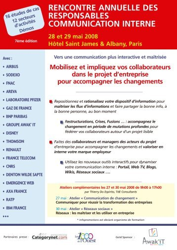 rencontre annuelle des responsables ... - Groupe Solutions