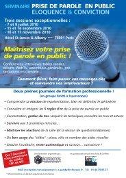 plaquette parole publique 2010 - Groupe Solutions