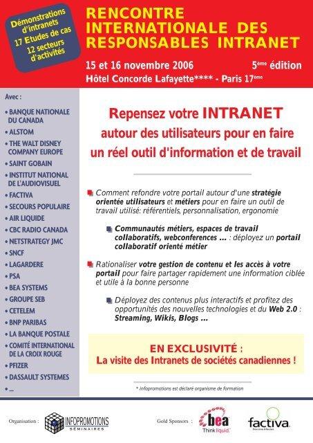 Rencontre Internationale Digital Workplace, Intranet, RSE