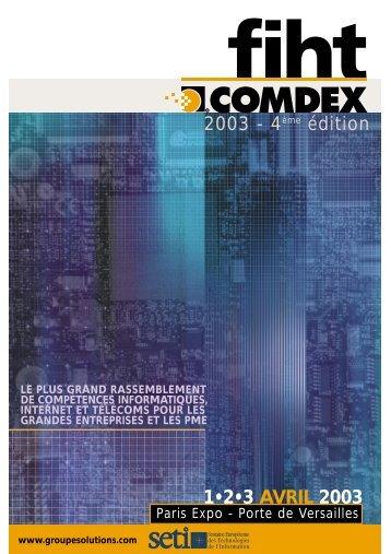 1•2•3 AVRIL 2003 2003 - 4ème édition - Groupe Solutions