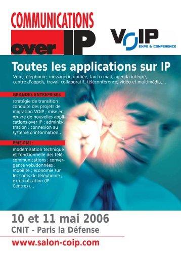 Toutes les applications sur IP 10 et 11 mai 2006 - Groupe Solutions