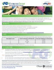Information on Web-Based Server Hosting - Iowa Fitnessgram Initiative