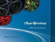 Mission Report 2009 - Cooper Institute