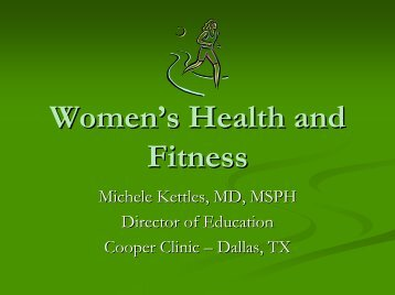 Fitness and Health - Cooper Institute