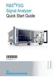 R&S FSQ Signal Analyzer - Rohde & Schwarz