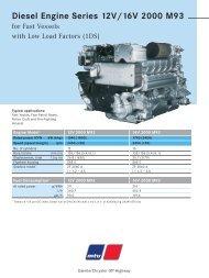 Diesel Engine Series 12V/16V 2000 M93 - Gold Coast Power, Inc.