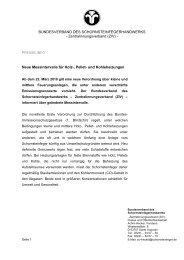 Pressemitteilung - Bundesverband des Schornsteinfegerhandwerks