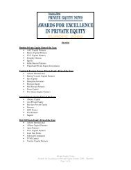 Private Equity News Awards for Excellence in Private Equity Europe ...