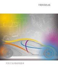 汽车工业用材料技术 - Heraeus Precious Metals