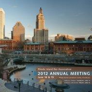 2012 ANNUAL MEETING June 14 & 15 - Rhode Island Bar ...