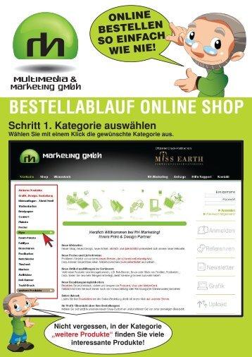 BESTELLABLAUF ONLINE SHOP Schritt 1 ... - RH Marketing