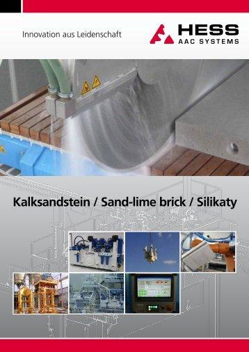Kalksandstein / Sand-lime brick / Silikaty - HESS Group