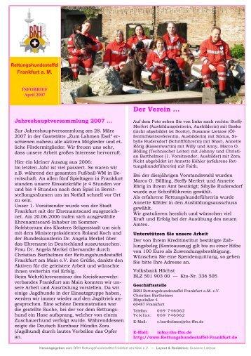 INFOBRIEF 2007 April - Rettungshundestaffel Frankfurt